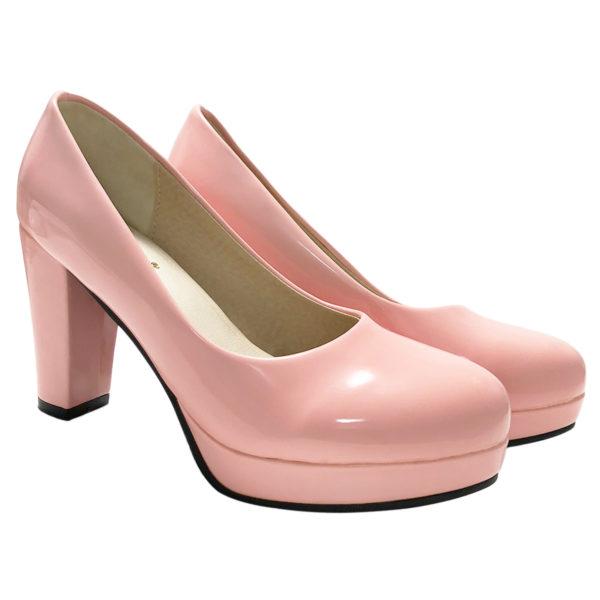 エナメル パンプス 【ピンク】